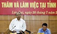 PM Nguyen Xuan Phuc melakukan temu kerja dengan Pimpinan Provinsi Lao Cai