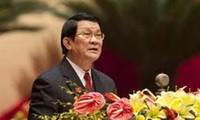 Staatspräsident Truong Tan Sang empfängt Delegation aus Indien