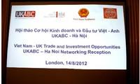 Großbritannien fördert Investitionen in Vietnam