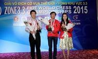 Drei vietnamesische Schachspieler beteiligen sich an der Schachweltmeisterschaft 2015