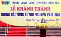Staatspräsident nimmt an der Einweihung des Denkmals des KPV-Generalsekretärs Nguyen Van Linh teil