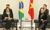 Vize-Staatspräsident Nguyen Thi Doan trifft Brasiliens Präsidentin