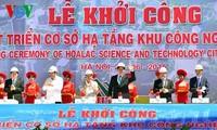 Premierminister startet das Projekt zur Infrastrukturentwicklung der Hochtechnologiezone Hoa Lac