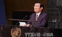 Staatspräsident Truong Tan Sang hält eine wichtige Rede beim UN-Gipfel