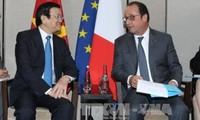 Vietnam und Frankreich intensivieren Zusammenarbeit in Bereichen Sicherheit und Wirtschaft