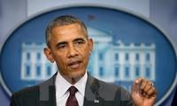 Internationale Pressekonferenz zum Vietnam-Besuch von US-Präsident Barack Obama