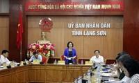 Parlamentspräsidentin Nguyen Thi Kim Ngan besucht Provinz Lang Son