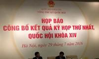 Pressekonferenz über das Ergebnis der Parlamentssitzung