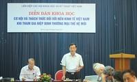 Chancen und Herausforderungen der vietnamesischen Wirtschaft beim FTA-Beitritt