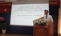 Diplomatiebranche von Ho Chi Minh Stadt markiert positive Zeichen im Jahr 2017