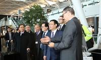 Vize-Premierminister Vuong Dinh Hue besucht den Konzern Zürich Airport