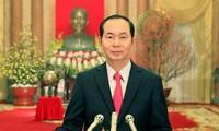 Glückwunsch zum Tet-Fest des Staatspräsidenten Tran Dai Quang