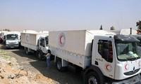 UNO rufen zu Waffenruhe für die humanitäre Hilfe in Syrien auf