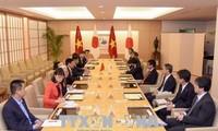 Vize-Premierminister Pham Binh Minh führt ein Gespräch mit dem japanischen Außenminister
