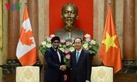 Staatspräsident Tran Dai Quang empfängt den kanadischen Verteidigungsminister