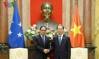 Staatspräsident Tran Dai Quang empfängt Parlamentspräsidenten von Mikronesien