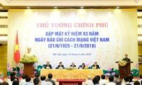 Premierminister Nguyen Xuan Phuc: Presse leistet einen großen Beitrag zum Aufbau des Landes