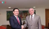 Vize-Premierminister Vuong Dinh Hue besucht Brasilien