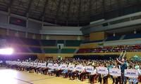 Eröffnung des 6. landesweiten Sport-Wettkampfs für Menschen mit Behinderungen