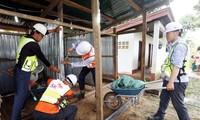 Dammbruch in Laos: Südkoreas Firma SK E&C baut temporäre Häuser für Einwohner vor Ort