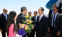 Ägyptens Präsident Abdel Fattah Al Sisi führt Gespräch mit dem vietnamesischen Staatspräsident