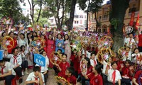 1000 Botschaften der Hanoier Schüler für Truong Sa zur Eröffnungsfeier des neuen Schuljahres