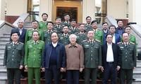 KPV-Generalsekretär, Staatspräsident Nguyen Phu Trong nimmt an der Sitzung der Parteileitung der Polizei teil