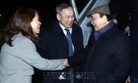 Premierminister Nguyen Xuan Phuc ist für das WEF Davos 2019 in der Schweiz eingetroffen