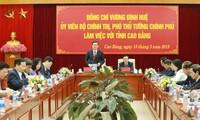 Vize-Premierminister Vuong Dinh Hue fordert von der Provinz Cao Bang größere Aufmerksamkeit für die Tourismusgebiete
