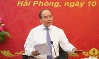 Premierminister Nguyen Xuan Phuc trifft Leiter der Stadt Hai Phong