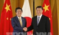 Zeichen für die Verbesserung der Beziehungen zwischen Japan und China