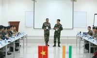 Vietnam und Indien machen gemeinsame Übung nach Miniaturmodell über die UN-Friedensmission