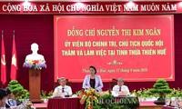 Parlamentspräsidentin Nguyen Thi Kim Ngan tagt mit Leitern der Provinz Thua Thien Hue