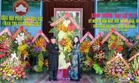 쩐 탄 먼 베트남 조국전선 중앙위원회 위원장, 호아하오교날에 80주년 기념대회 참가
