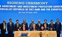 베트남 및 유럽연합 간의 자유무역협정 (EVFTA) 및  투자보호협정 (IPA) 체결