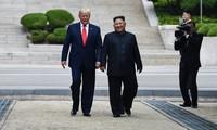 조선중앙통신, DMZ 미국-조선 '역사적인 만남' 예찬