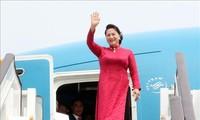 응우옌 티 김 응언 국회의장, 베이징 도착, 중국 공식방문 계속