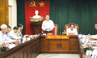 풍 꾸억 히엔 국회부의장, 뚜옌꽝 성 지도자들과 회의