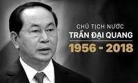 ថ្នាក់ដឹកនាំទូទាំងប្រទេសផ្ញើសារទូរលេខចូលរួមរំលែកទុក្ខចំពោះមរណភាពរបស់ប្រធានរដ្ឋ លោក Tran Dai Quang
