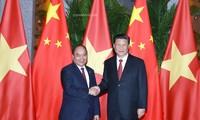 នាយករដ្ឋមន្ត្រីវៀតណាម លោក Nguyen Xuan Phuc អញ្ជើញជួបសម្តែងការគួរសមនិងពិភាក្សាការងារជាមួយអគ្គលេខា ប្រធានរដ្ឋចិន លោក Xi Jinping
