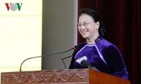 ប្រធានរដ្ឋសភាវៀតណាមលោកស្រី Nguyen Thi Kim Ngan អញ្ជើញចូលរួមពិធី រំលឹកខួបអនុស្សាវរីយ៍ទិវាគ្រូបង្រៀនវៀតណាមនៅវិទ្យាស្ថានហិរញ្ញវត្ថុ