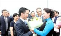 ប្រធានរដ្ឋសភាវៀតណាមលោកស្រី Nguyen Thi Kim Ngan អញ្ជើញទៅដល់ខេត្ត Jiangsu ប្រទេសចិន