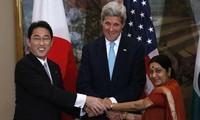 日美印举行海上安全合作三方会议