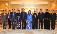 阮氏金银会见芬兰议会议长和阿联酋联邦国民议会议长