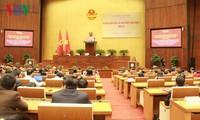 阮氏金银主持国会党团贯彻落实越共十二届四中全会决议会议