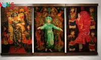 画家陈俊龙磨漆画中的圣母祭祀信仰