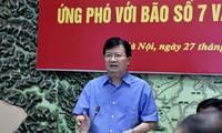 越南政府副总理郑庭勇主持应对7号台风及暴雨会议