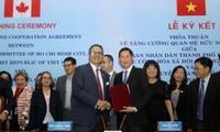 胡志明市与加拿大多伦多签署加强合作协议