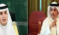 海湾地区外交危机:卡塔尔和沙特断交后两国外长首次会晤