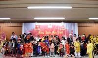 温暖的越南驻外机构迎春活动
